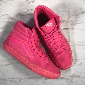 Vans off the Wall hightop. pink sneakers. Sz 8.5